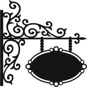 That Special Touch Scroll Work Sign Mask Country View