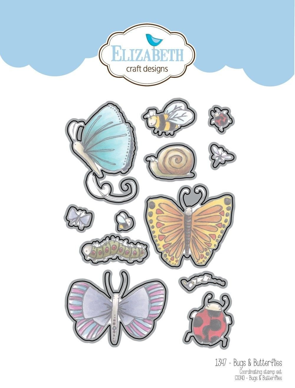 1347 Elizabeth Craft Designs Bugs Butterflies Country View Crafts