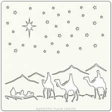"Artistic Flair, Craft Stencil 152 Range - (6"" x 6"") - Journey to Bethlehem"