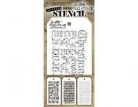 MTHS020 Stampers Anonymous Tim Holtz Layering Stencil - Mini Stencil Set #20