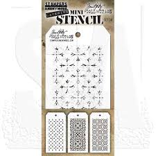 MTHS030 Stampers Anonymous Tim Holtz Layering Stencil - Mini Stencil Set #30