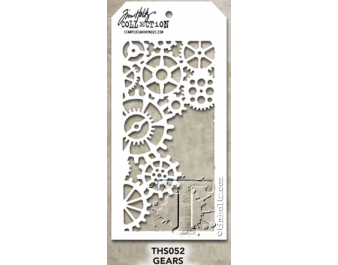 THS052 Stampers Anonymous Tim Holtz Layering Stencil - Gears